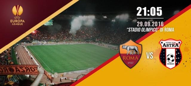 AS Roma vs Astra Giurgiu 4 a 0  | La Roma strapazza l'Astra Giurgiu, in rete Strootman, Fazio e Salah oltre all'autorete di Fabricio, ma gli applausi sono tutti per Totti (Foto e Video)