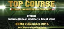 Il 2 Dicembre a Roma in programma il corso per intermediari sportivi e talent scout (Foto)