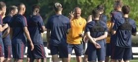 Squadra in campo per l'allenamento. Scarico per chi ha giocato ieri, presente Bruno Peres