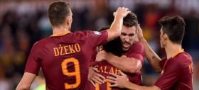 La Roma passeggia sul Bologna e resta a -4 dalla Juve
