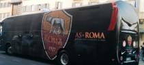 La Roma in partenza per Ferrara