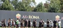 Allenamento Roma, rifinitura in vista dell'Inter