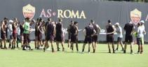Allenamento Roma. Di Francesco si concentra sulla parte tattica, solo terapie per Dzeko, El Shaarawy e Pellegrini