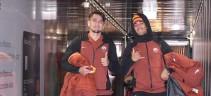 Squadra arrivata a Verona (video)