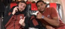 Roma in partenza per Torino (video)