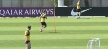 Allenamento Roma, rapidità ed atletica per i giallorossi (video)
