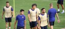 Allenamenti, Roma al lavoro in vista del Chelsea. El Shaarawy in gruppo
