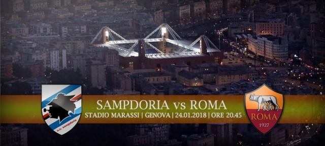 Sampdoria vs Roma - Probabili formazioni, statistiche, curiosità, meteo e dove vederla in tv