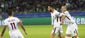 Una Roma a due facce vince a Baku ed è seconda nel girone