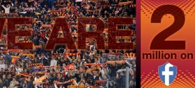 La Roma raggiunge i 2 milioni di Likers su Facebook