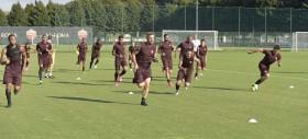 La Roma torna ad allenarsi in vista del derby. Keita in gruppo, fisioterapia per De Rossi, Florenzi e Maicon