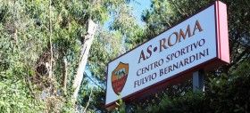 La Roma in campo a Trigoria per l'allenamento in vista del match contro l'Atalanta