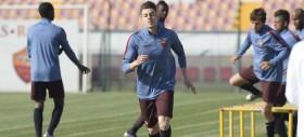 Trigoria: Squadra in campo per preparare il match contro il Sassuolo
